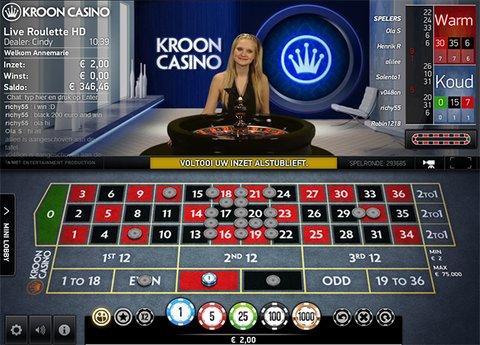 Kroon Live Roulette